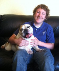 Max smiley bulldog